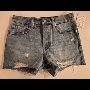 Free People distressed denim cut off shorts 25
